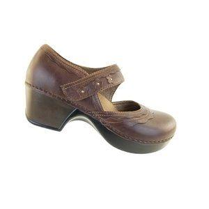 Dansko Harlow Mary Jane Brown Professional Leather